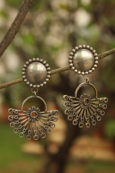 Crescent Kanphool German Silver Earrings