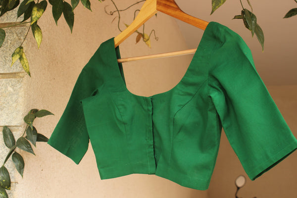| Bela  | -  Green Cotton Blouse.