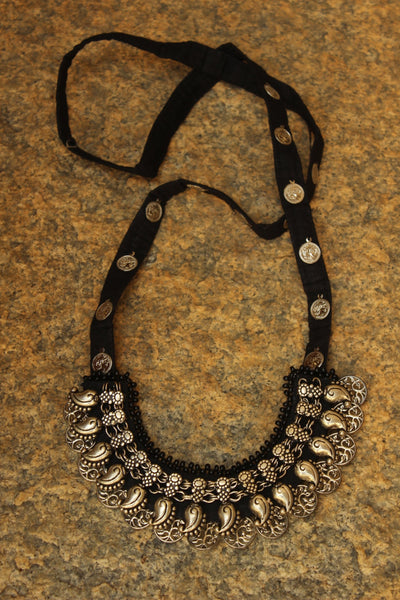 Black Kohlapuri Long neckpiece