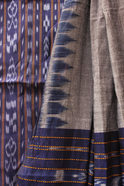 Purple Sambalpuri Ikat Unstitched Suit Set