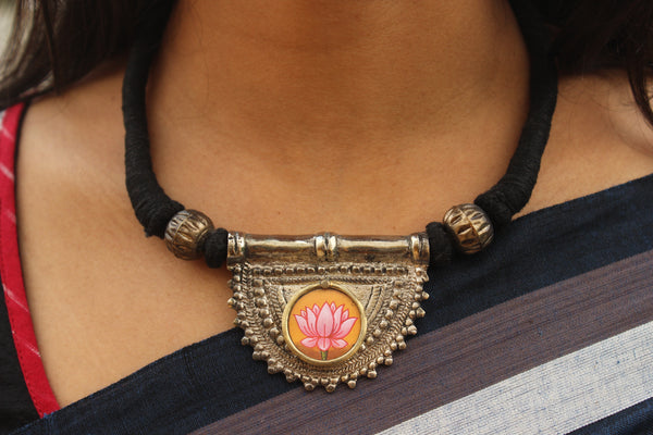 Lotus Choker In German Silver