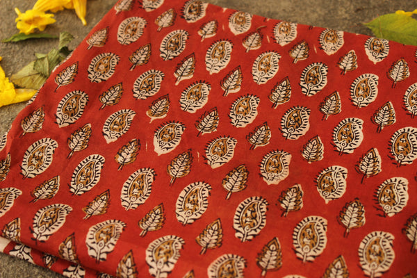 Hand block printed Fabric in Cotton. TCB-DFAB-9