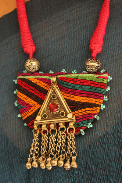 Banjara Necklace with Afghan Pendant