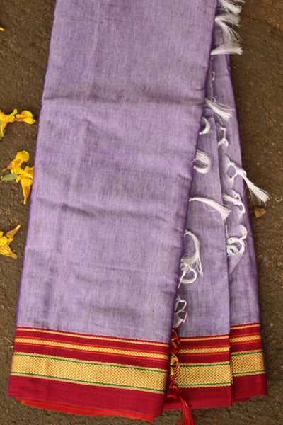 Purple Ilkal Saree in cotton silk . Code- RK-IL-C15-1