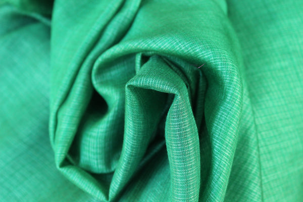 | Fish in my pond | Green Handwoven natural mulberry silk saree. TCB-MS4-BS