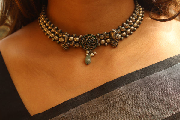 92.5 Silver Choker Necklace