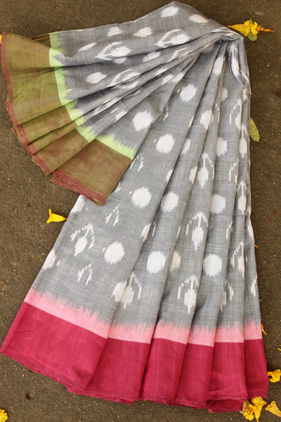 Pochampally Double Ikat Cotton saree. TCB-IK1-P3