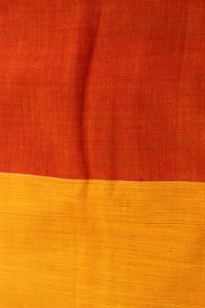 | Feisty | Handloom red Cotton saree with jamdani bootas. TCB-COT6-JM-The Chalk Boutique