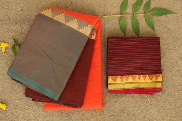 Chettinad cotton saree. Code- RK-CH1-C29