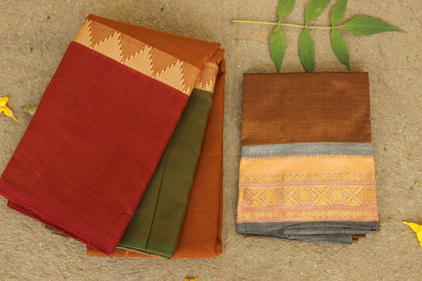 Chettinad cotton saree. Code- RK-CH6-C29