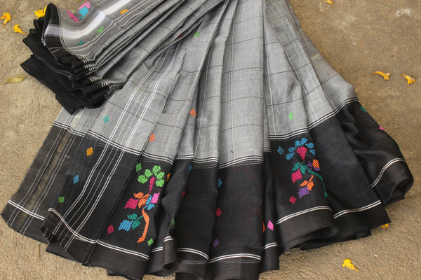 Handloom mark Chedi butta cotton silk saree. RK-CHB3-C29