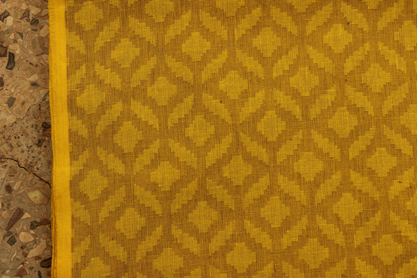 Lemon Yellow Overall buti Cotton jacquard Fabric.