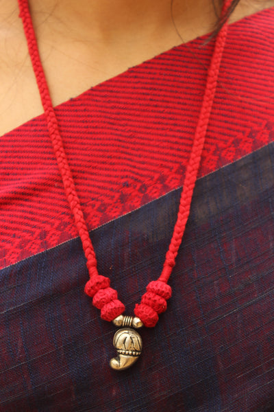 Red Lambani Tribal Adjustable Pendant Necklace.TCB-LE13-BJ
