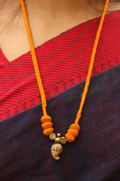 Mustard Lambani Tribal Adjustable Pendant Necklace.TCB-LE18-BJ