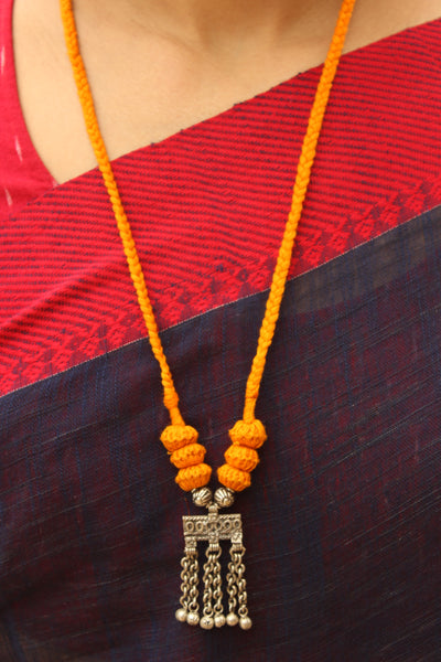 Yellow Lambani Tribal Adjustable Pendant Necklace.TCB-LE20-BJ