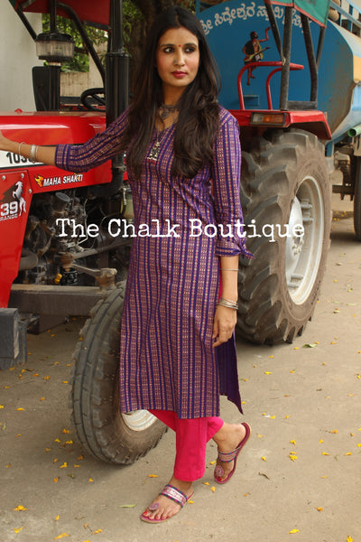 Festive Kurta with pants. GC-SET-231-The Chalk Boutique