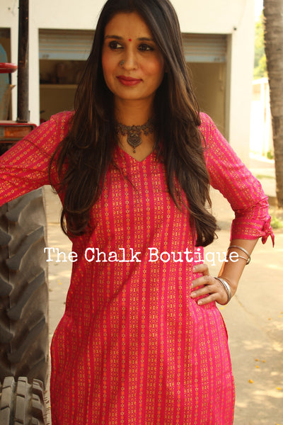 Festive Kurta with pants. GC-SET-232-The Chalk Boutique