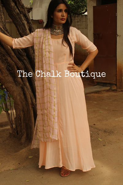 | RIDIKA | - GC-D-273 ( Peach )-The Chalk Boutique