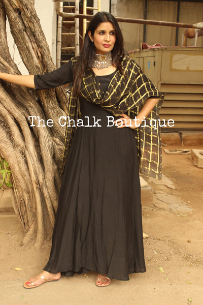 | KRIDHA | - GC-D-273 ( Black )-The Chalk Boutique