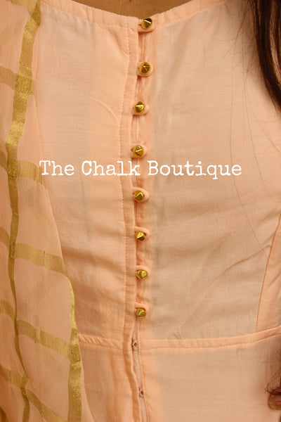 | TANUH | - GC-D-276 ( Peach )-The Chalk Boutique