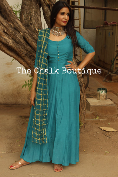 | KAARI | - GC-D-276 ( Teal Blue )-The Chalk Boutique