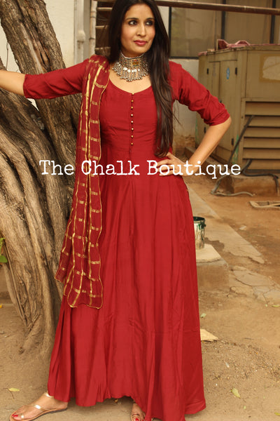 | GATI | - GC-D-276 ( Rust ).-The Chalk Boutique