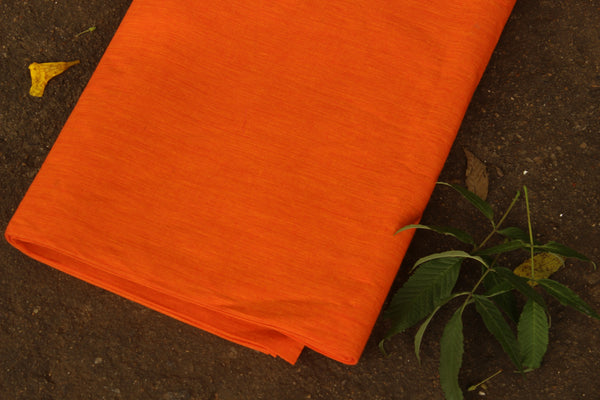 Orange mangalgiri cotton fabric . TCB-MAN4-P5