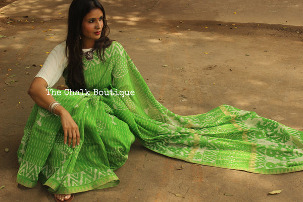 Handwoven silk saree with gicha border and gicha palla. SHB-GICHA-7