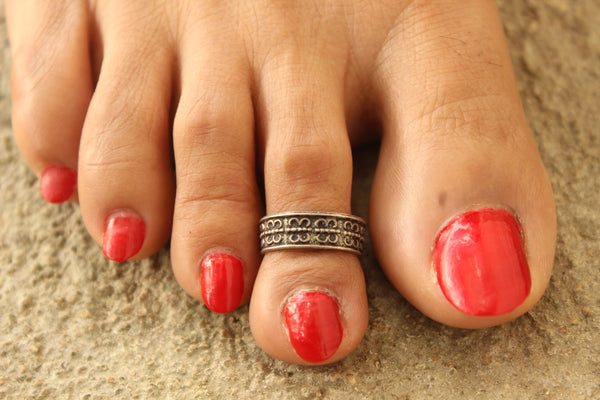 92.5 Silver Toe rings ( a pair). VA-TR-V