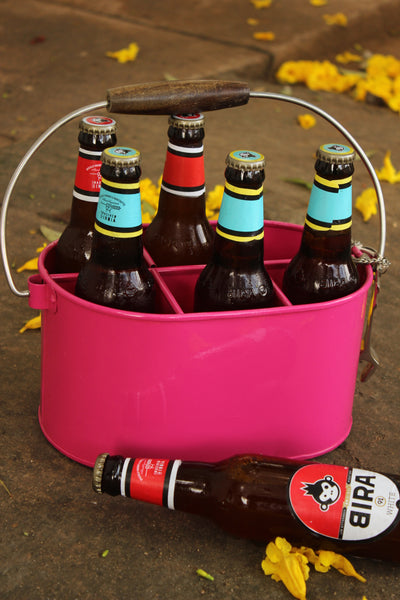 Six bottle caddy. EL-BEER-1