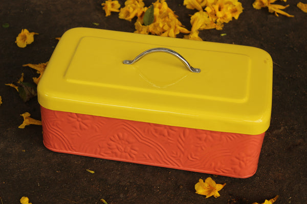MUGHAL STORAGE BOX RECTANGLE ( PEACH ) EL27-MUREC-12040E