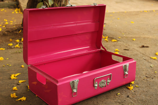 Vintage metal trunk | Buxa metal trunk (Small)- EL-BUX-S-C7