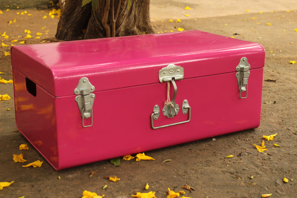 Vintage metal trunk | Buxa metal trunk (Medium)- EL-BUX-M-C7