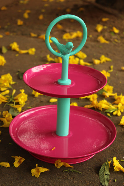 Tweet Two Tier Metal  Cake  And Cupcake Stand EL-2TCBP-5-C20