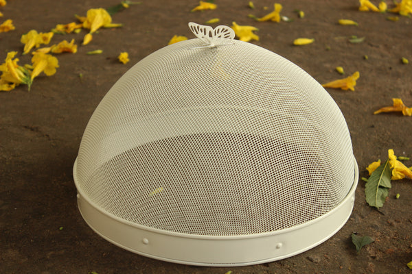 Butterfly Mesh 10 Inch Ivory EL26-Wire-13033F