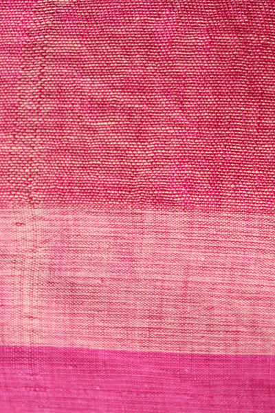 Candy stripes white and pink linen saree. NF-PL1-C2