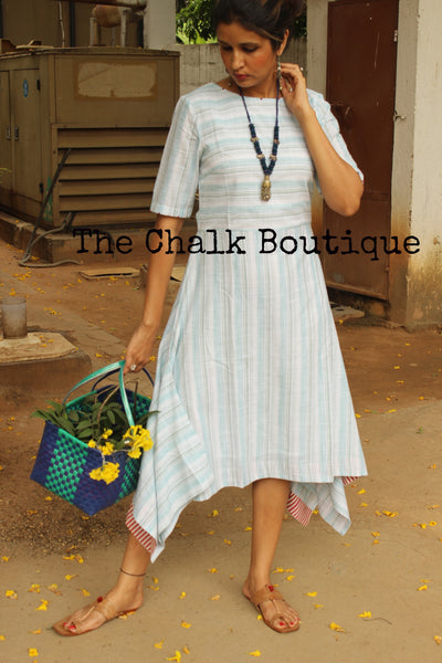Striped Asymmetrical Dress GC-D-58GST-The Chalk Boutique