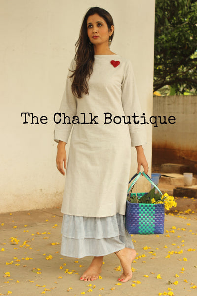 Multilayer Heart Embroidery Dress GC-D-92-The Chalk Boutique
