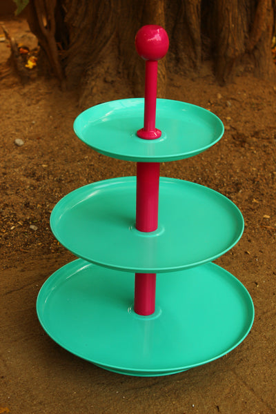 Three Tier Metal  Cake  And Cupcake Stand. EL-3CAK-6-C17