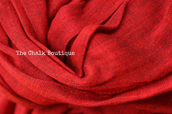 | Poppies | Red pure cotton Saree with Gicha palla. TCB-GIC5-CY6-The Chalk Boutique
