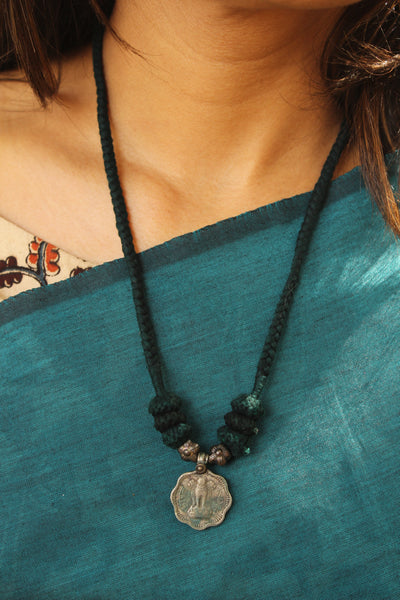 "Lambani Tribal  ""Coin"" Adjustable  Dori Necklace TCB-JWL-7031"