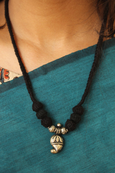 "Lambani Tribal  ""Keri"" Adjustable  Dori Necklace TCB-JWL-7014"