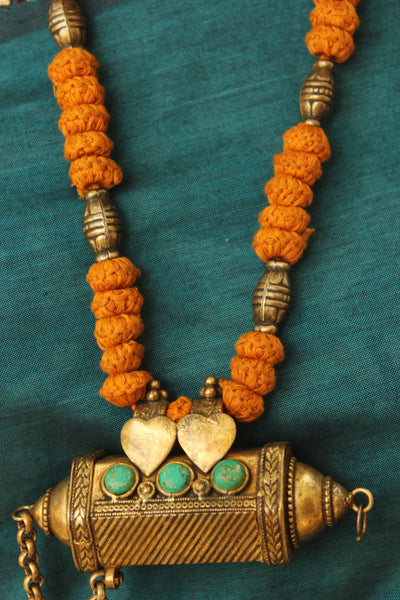 Lambani Tribal Adjustable Dori Necklace With Antique Pendant TCB-JWL-7061