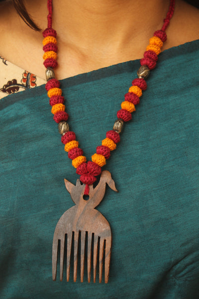 Comb Lambani Tribal Adjustable  Dori Necklace TCB-JWL-7055