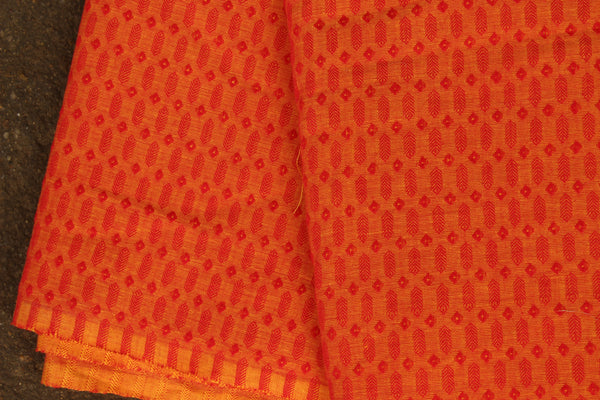 Mustard  Self Woven Handloom Cotton Fabric. TCB-FAB8-KN