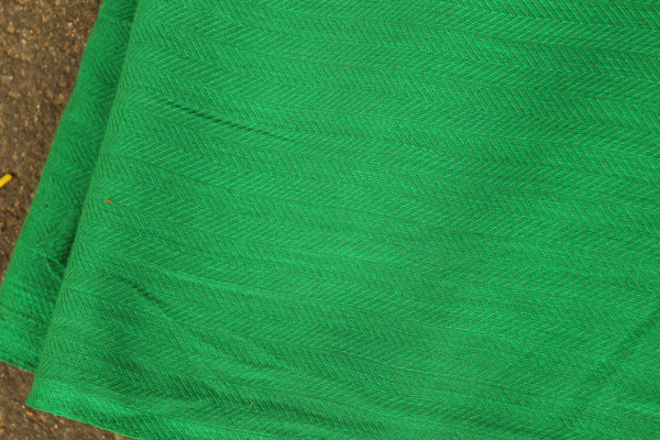 Green Self Woven Handloom Cotton Fabric. TCB-FAB9-KN