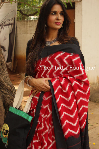 Double Ikat Cotton saree OR-IK-DOB