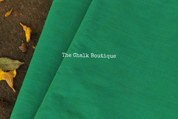 Green  mangalgiri cotton fabric . TCB-MAN2