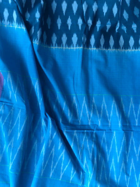 Pure  Handwoven Pochampally Single Ikat Cotton Saree