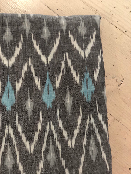 Grey  Colour Ikat Cotton Fabric TCB-GIKT